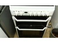 Indesit 60cm electric double grill/over free nn delivery 3 months warranty