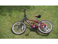 "(2701) 20"" Aluminium RALEIGH HOTROD Boys Girls MOUNTAIN HYBRID BIKE BICYCLE Age: 6-9, 120-135 cm"
