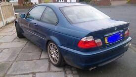 BMW 3 series 330ci sport coupe blue manual race drift car