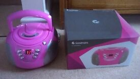 GOODMANS CD STEREO BOOMBOX - GPSO2 PINK