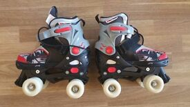 Boy's adjustable Roller Boots, size S (33-36, UK child size 14 to adult size 3)