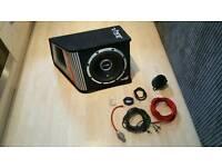 "Vibe Blackair Vented 12"" 1600 watt Subwoofer + high end cables"
