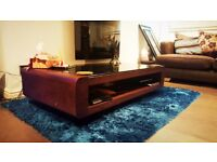 2x 2 Seater Sofas with footstool and coffee table