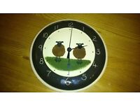 Wall Clock - As new condition Sarah Billingham pottery sheep wall clock