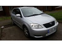 £400 toyota corolla 2003 1.4l very good engine and clutch MOT August 2017 need a new gearbox.