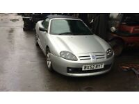 2002 Mg Tf Sport 1.6 Petrol Silver BREAKING FOR SPARES