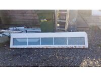 UPVC Door with frame, window and lengths of upvc