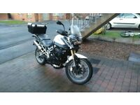 Triumph Tiger 800. Lots of Add ons and Full luggage