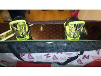 NS Snowboard inc 2 sets bindings 161cm