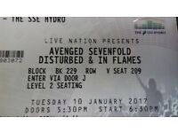 avenged sevenfold & disturbed 10.01.17 at the hydro