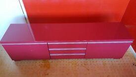 High gloss modern TV bench (£70)