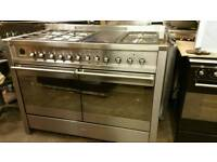 Smeg 120cm cooker dual fuel range used 3 times