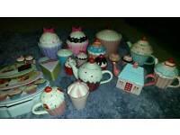 Cupcake trinket pots teapots and tins