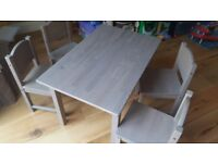 Childrens Table and 4 chairs