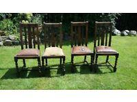 Free oak chairs (x4) - a restoration project