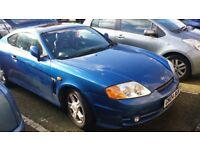 Hyundai Coupe, 2004, automatic transmission, one scratch, drives well, fresh MOT, lady owner