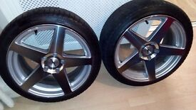 2 18in alloys and tyres for bmw