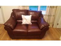 3 seater and 2 seater leather sofas.coffee table and tv cabinet