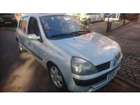 2004 RENAULT CLIO 1.4l PETROL, 5dr MANUAL WITH 9mths MOT.