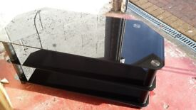 Black Glass TV Stand (suit 40 to 50 inch TV)