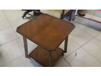 Unusual Side Table On Castors
