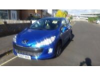 PEUGEOT 308 SPORT 2008,MOT AND ROAD TAX PAID (OR EXCHANGE WITH MOTORCYCLE)