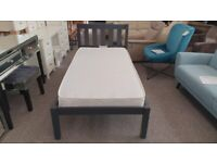 Luna Single Bed Anthracite (BED ONLY) Can Deliver