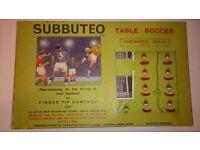 Subbuteo 'Continental Display' Edition. Full set 1969. Good condition