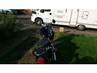 Yamaha XVS535 motorcycle, 1996, Red.
