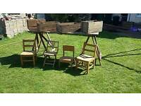 Vintage wooden chair kids vgc