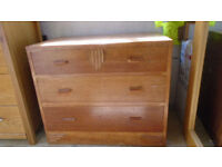 utility chest of drawers original 1950`s item in sound condition