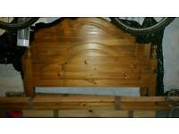 Pine double bed and matress