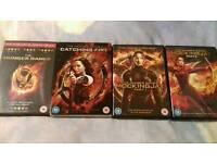Full set of Hunger Games films. DVD.