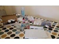 Selection of cake / sugarcraft modelling items. Sugarpaste dye, flower cuttees etc