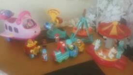Little people bundle fisher price set figures fair rides plane