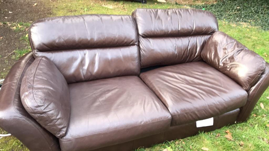 Leather sofa from Next