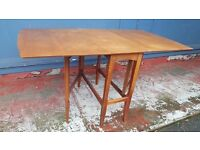 Real Wood Butterfly Table in Good Condition