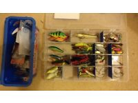 Lure / Spinning fishing set pike perch zander chub trout, rods, reels, lures, etc