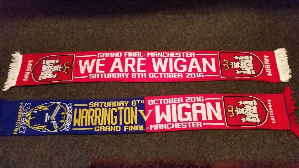 wigan grand final scarfs