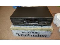 Technics RS-TR575 EB K - Audiophile Twin Cassette Deck - Separate.