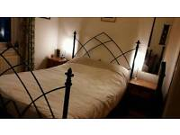 King sized gothic wrought iron bed frame