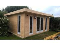 LOG CABINS TREE HOUSES BEACH HUTS HORSE STABLES TRIANGLE HOUSES GARDEN OFFICES UK NATIONWIDE