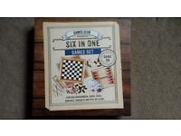 Brand new, unused games set - 6 in 1 includes chess, dominoes, draughts etc
