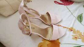 Pink patent sandals