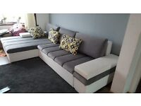 Large corner sofa bed