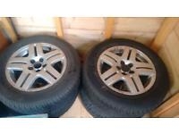195/65/15 Conti winter contact tyres on Vw alloys