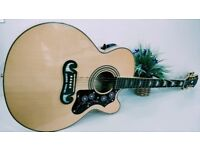 EPIPHONE EJ200 CE ELECTRIC ACOUSTIC WITH EPIPHONE HARD CASE