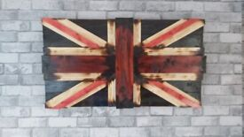 Hand made wooden flags