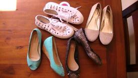Bundle of Womens / Girls size 3 Shoes & Pumps