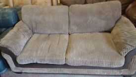 Brown Fabric Two Seated Sofa